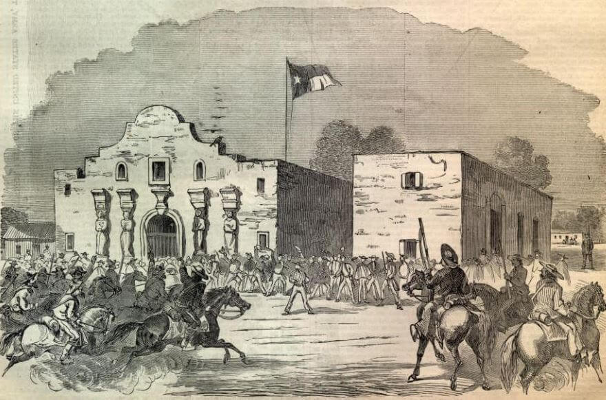 "Retrato de la famosa ""Batalla de González""."