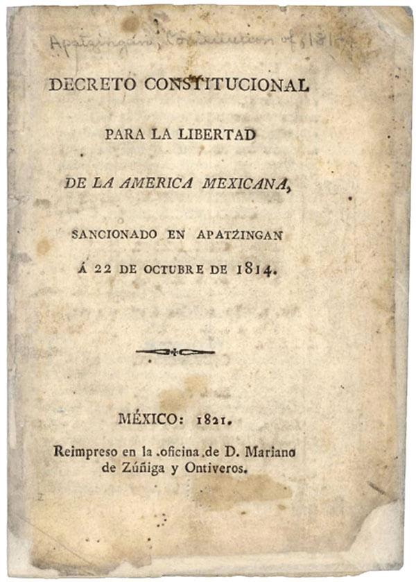 Decreto Constitucional para la Libertad de la América Mexicana.