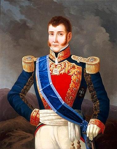 Agustín Cosme Damián de Iturbide y Aramburu. Retrato al óleo.