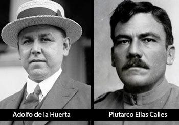 Fotografías de Adolfo de la Huerta y Plutarco Elías Calles.