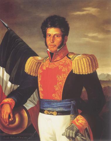 Retrato póstumo de Vicente Guerrero por Anacleto Escutia, óleo sobre tela.