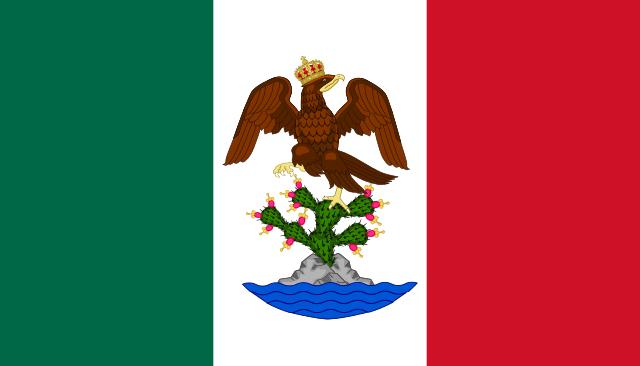Bandera del Primer Imperio Mexicano.