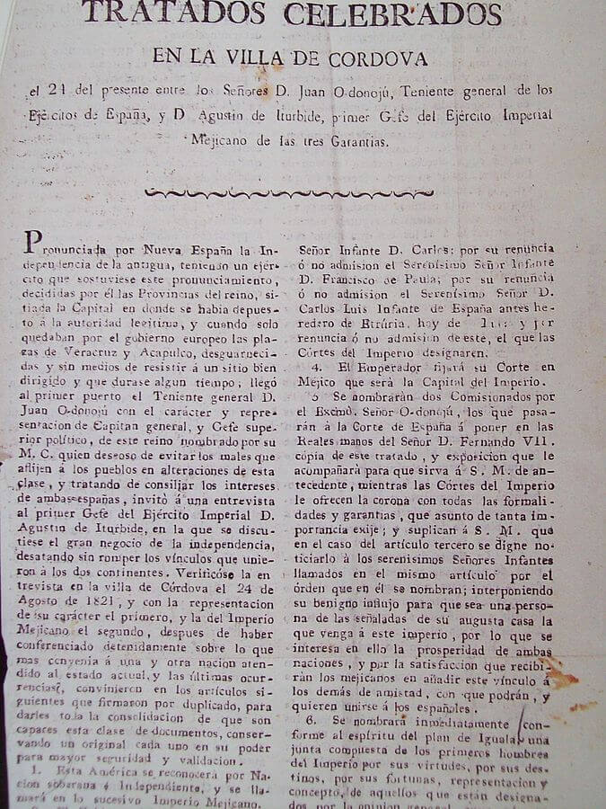 Fotografía original de la primera página de los Tratados.