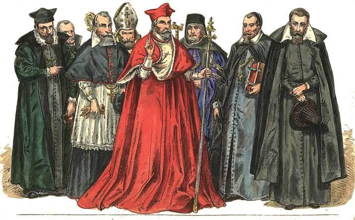 El clero y sus estratos durante la Edad Media.