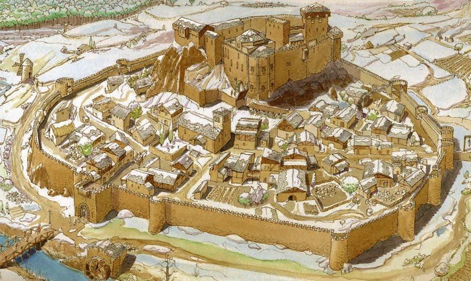 Representación del burgos o ciudad en el Antiguo Régimen.
