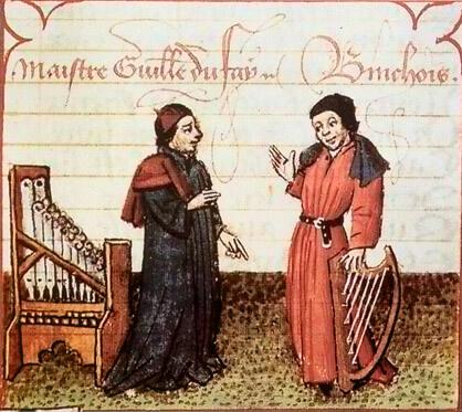 Guillaume Dufay y Gilles Binchois.