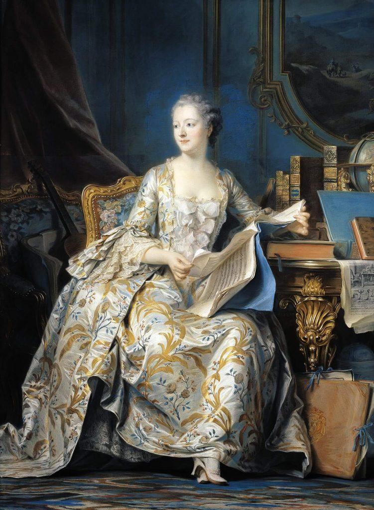 """""""Madame de Pompadour"""". Óleo de M. Q. de la Tour."""
