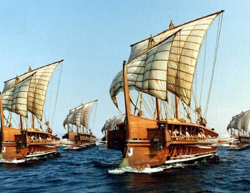 Embarcación ateniense.