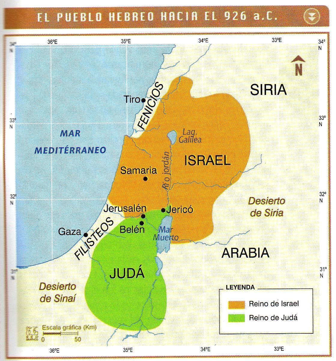 Pueblo Hebreo hacia el 926 a.C.