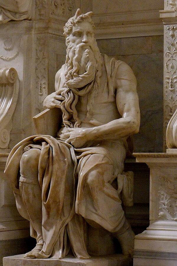 Moisés, por Miguel Ángel, 1513-1515.