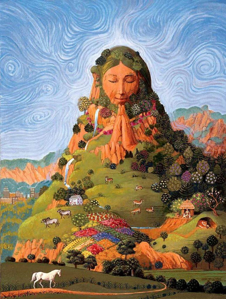 Diosa totémica de los Incas representado por el planeta Tierra.