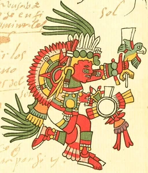 Tonatiuh. Dios azteca del Sol.