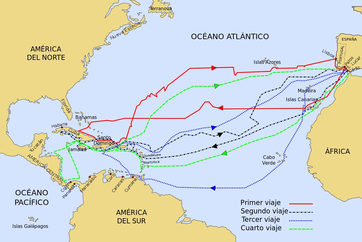 Viajes de Cristóbal Colón.