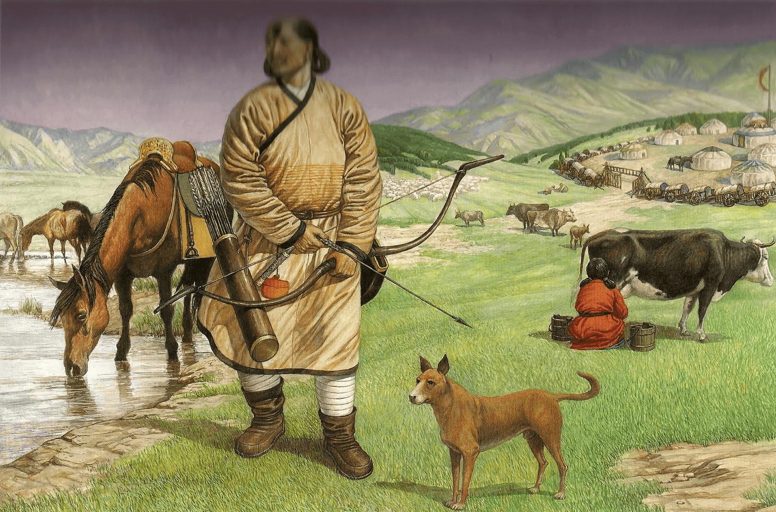 Campamento mongol.