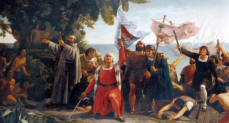 Llegada de Colón.