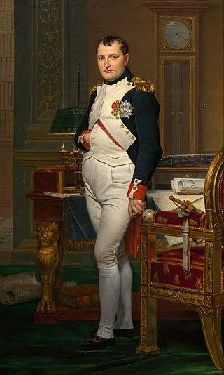 Napoleón en su gabinete por Jacques-Louis David.