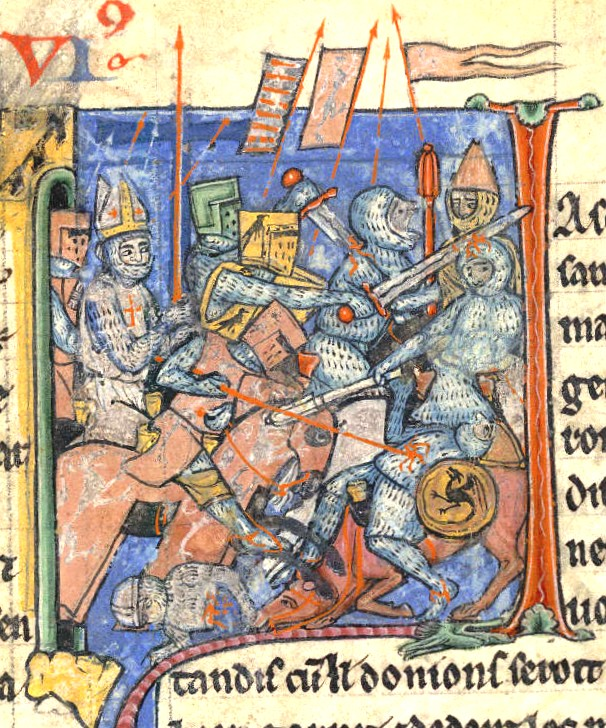 Representación de una batalla del siglo XIII.