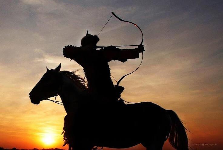 Representación de un guerrero Huno.