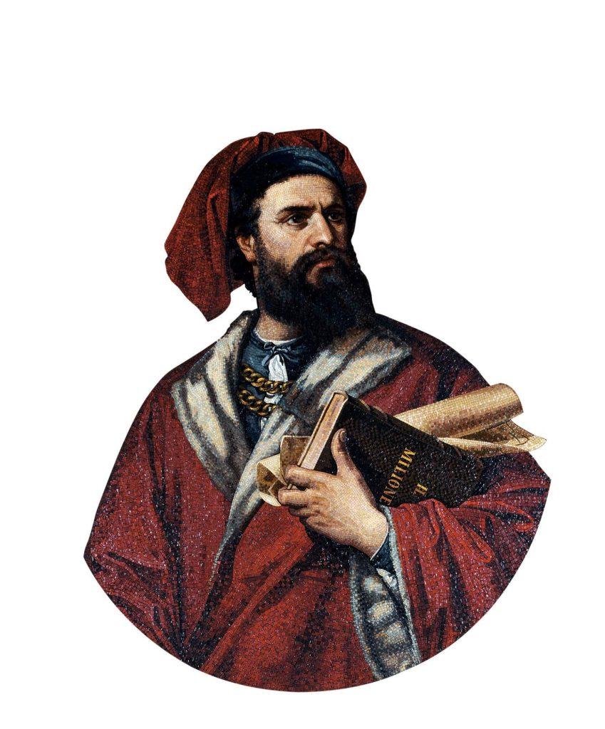 Marco Polo. Mosaico de 1867.