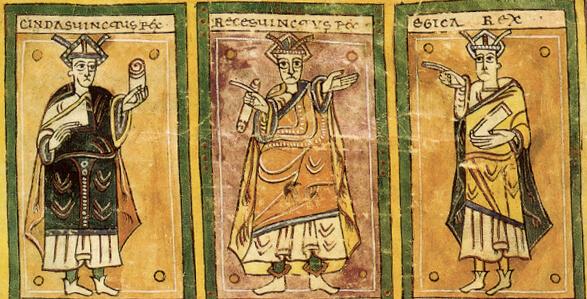 Reyes visigodos en el Codex Vigilanus.