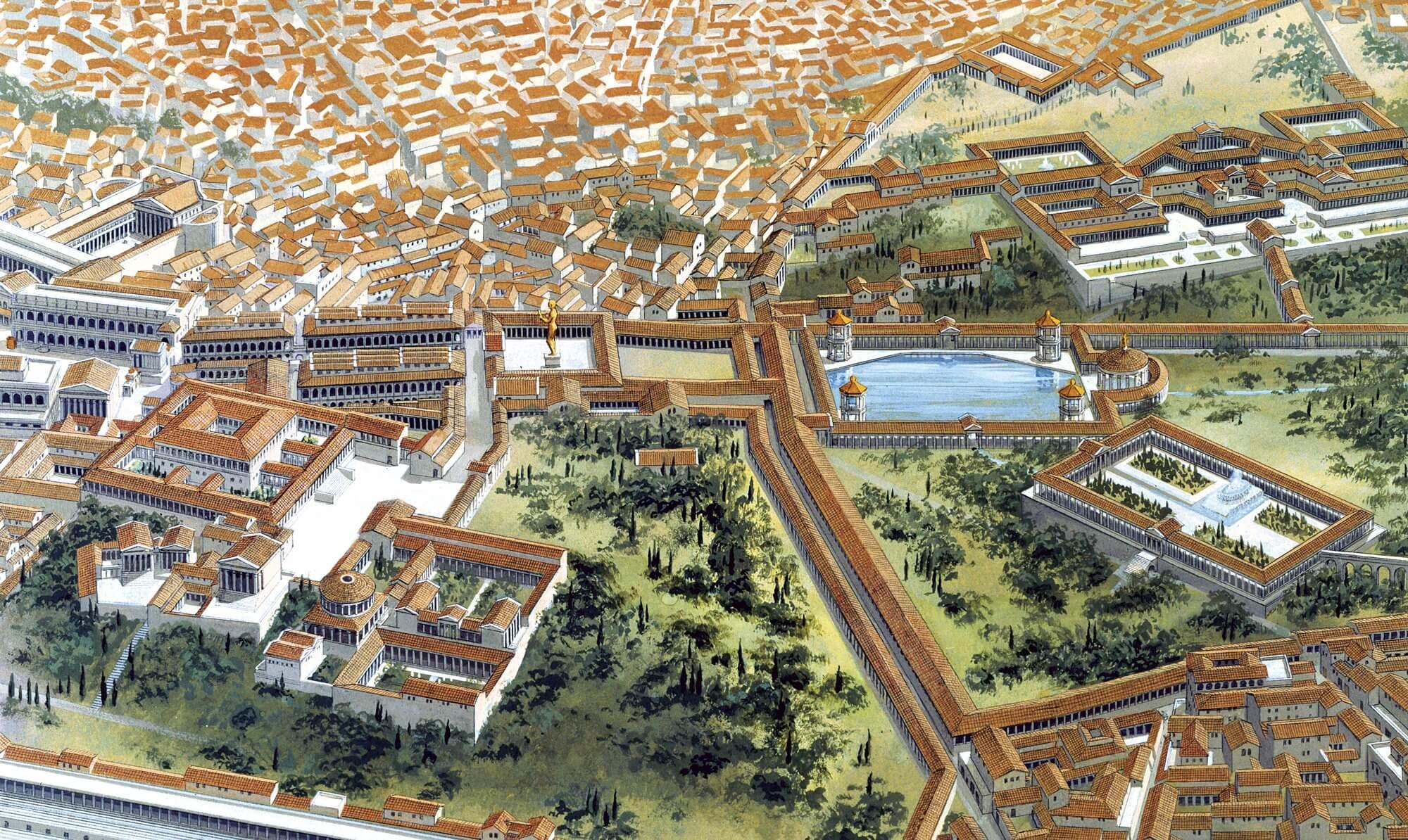 La Domus Aurea, el gran palacio de Nerón.
