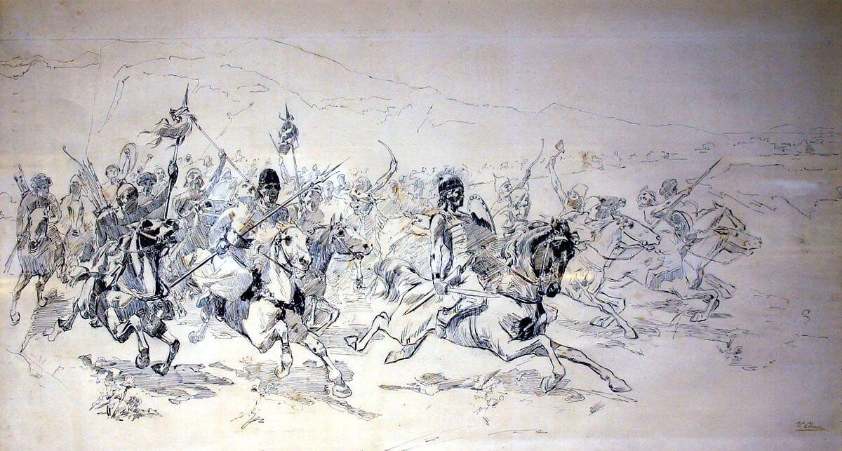 Atila y los hunos, realizado por Ulpiano Checa.