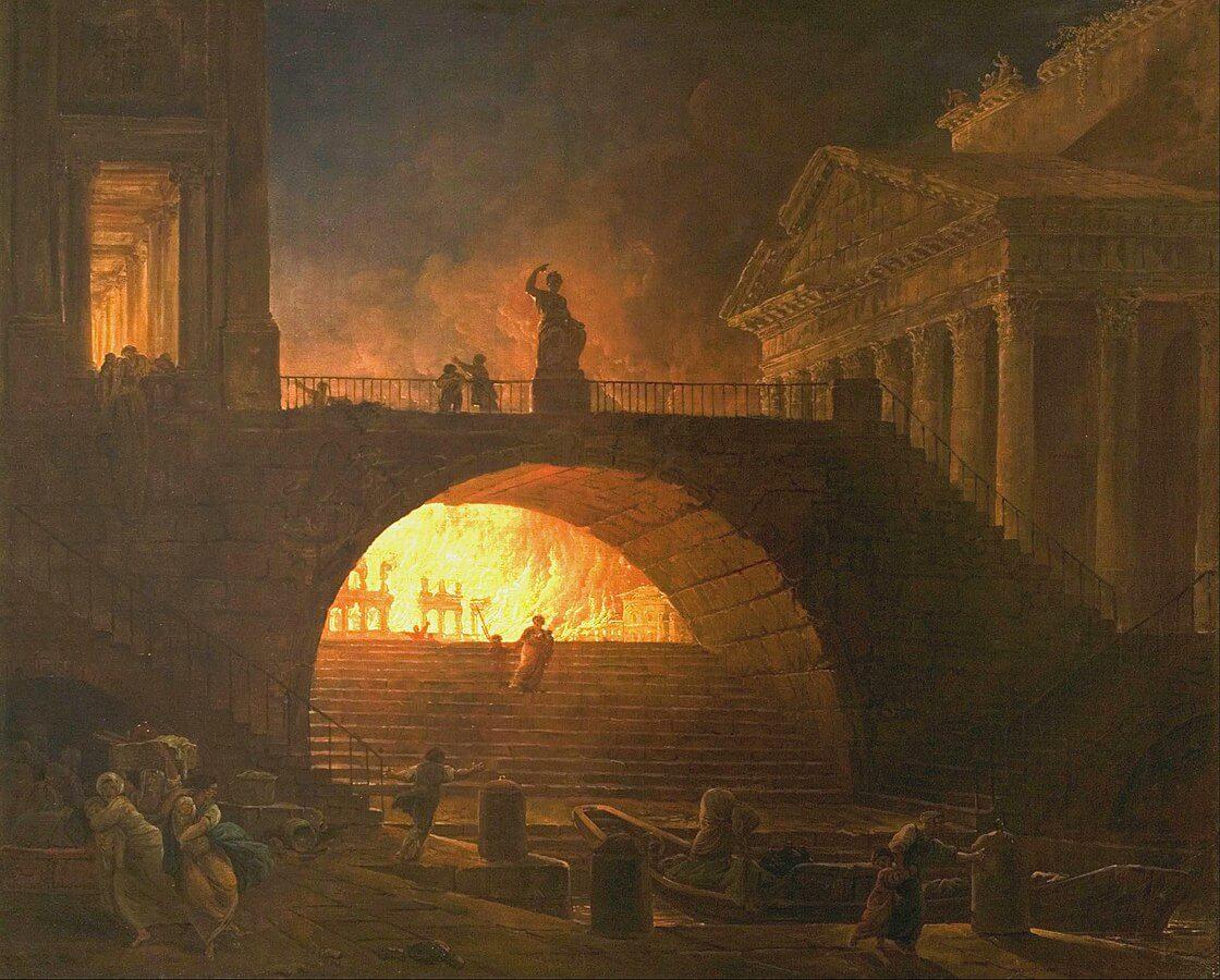 El gran incendio de Roma.