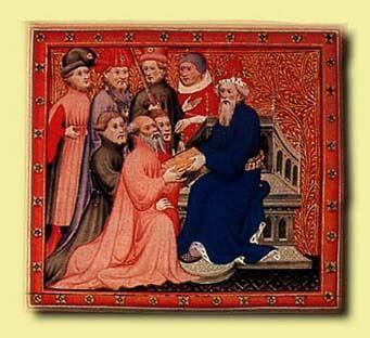 Marco Polo en la corte de Kublai Kan.