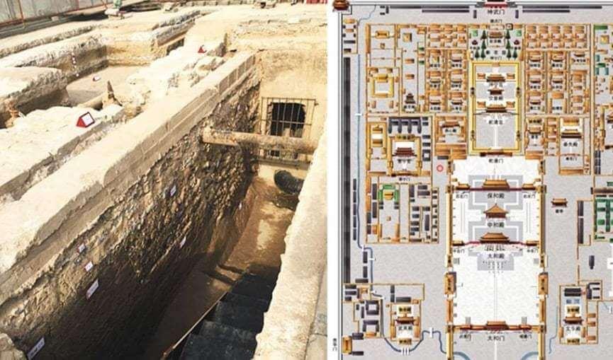 Restos del Palacio de Kublai Kan hallados por los arqueólogos.