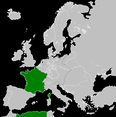 Ubicación del Segundo Imperio Francés.