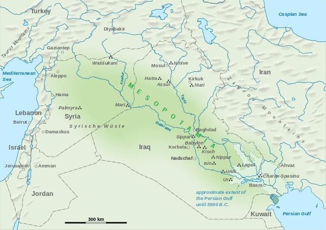 primeras ciudades en Mesopotamia