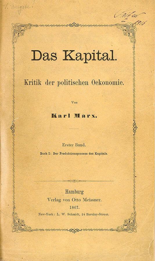 Portada de la primera edición de Das Kapital