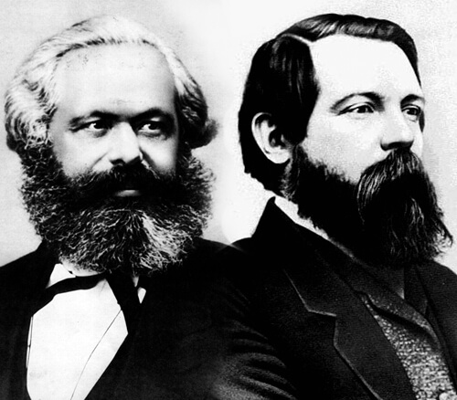 Karl Marx y Friedrich Engels.