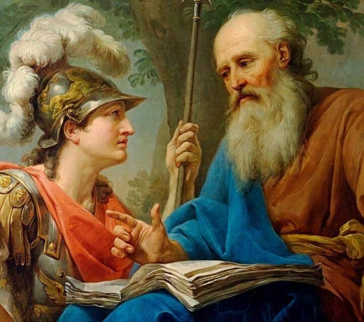 Alcibíades y Sócrates