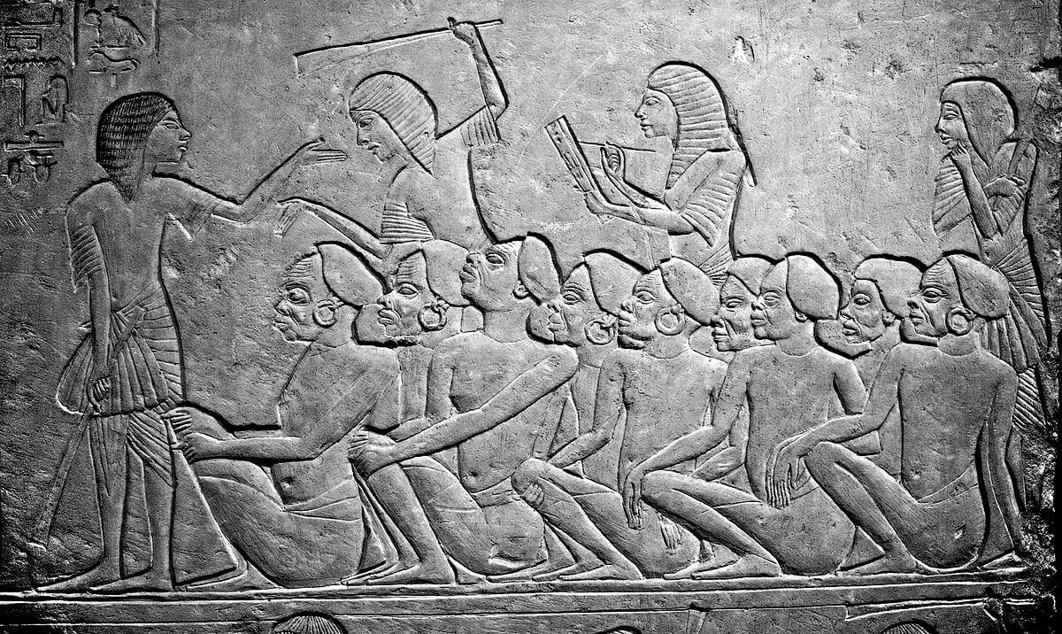 La esclavitud en el Antiguo Egipto.