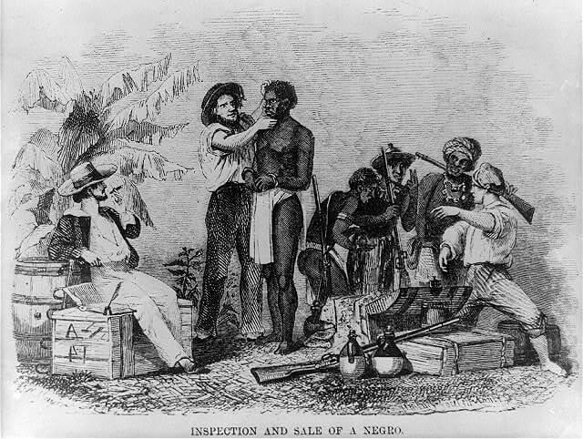 El comercio de esclavos africanos.