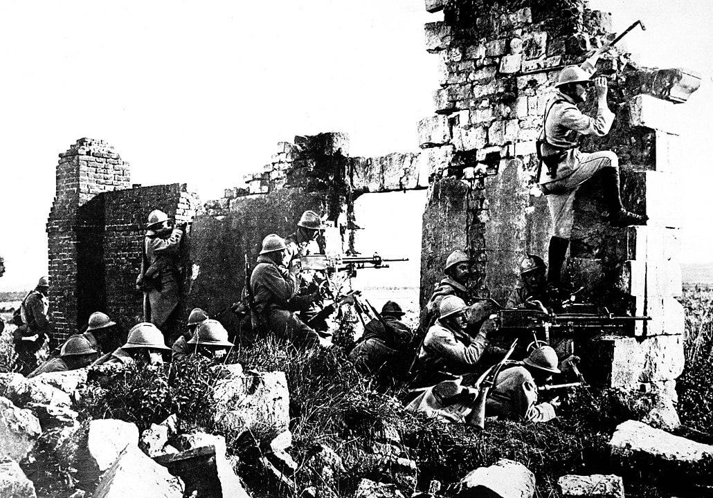 Tropas Francesas durante la Primera Guerra Mundial