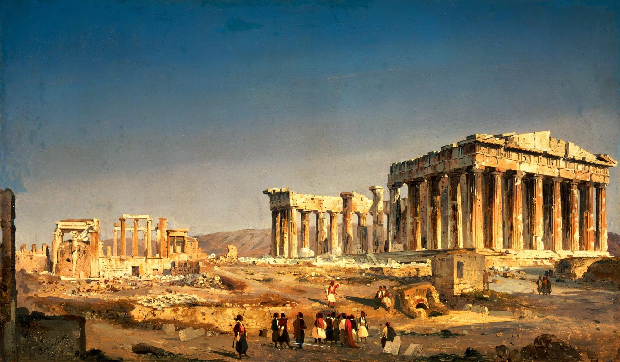 La Acrópolis de Atenas en 1863.