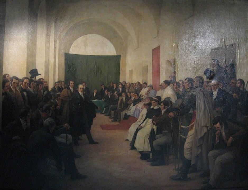 """Cabildo abierto del 22 de mayo de 1810"", cuadro de Pedro Subercaseaux"