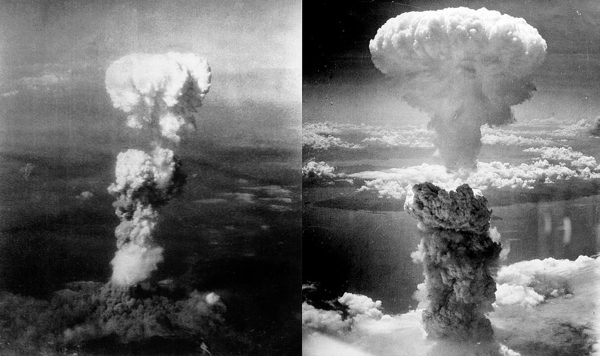 bombas atómicas sobre Hiroshima y Nagasaki
