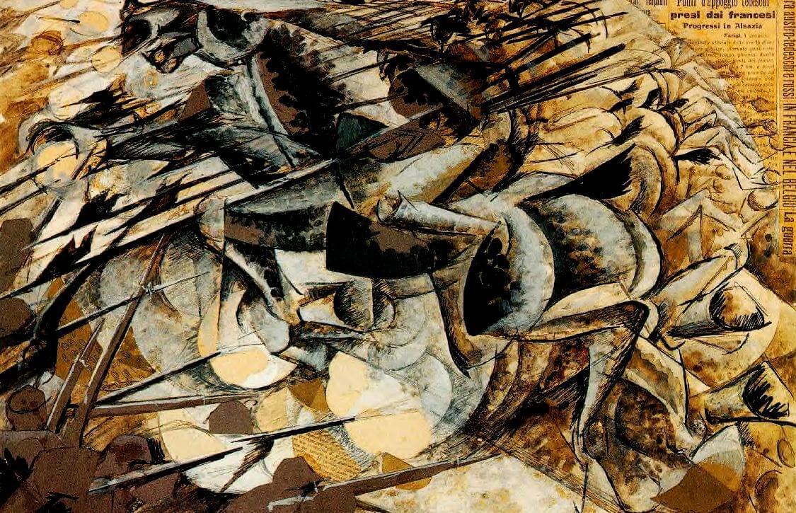 Carica di lancieri de Umberto Boccini, 1915