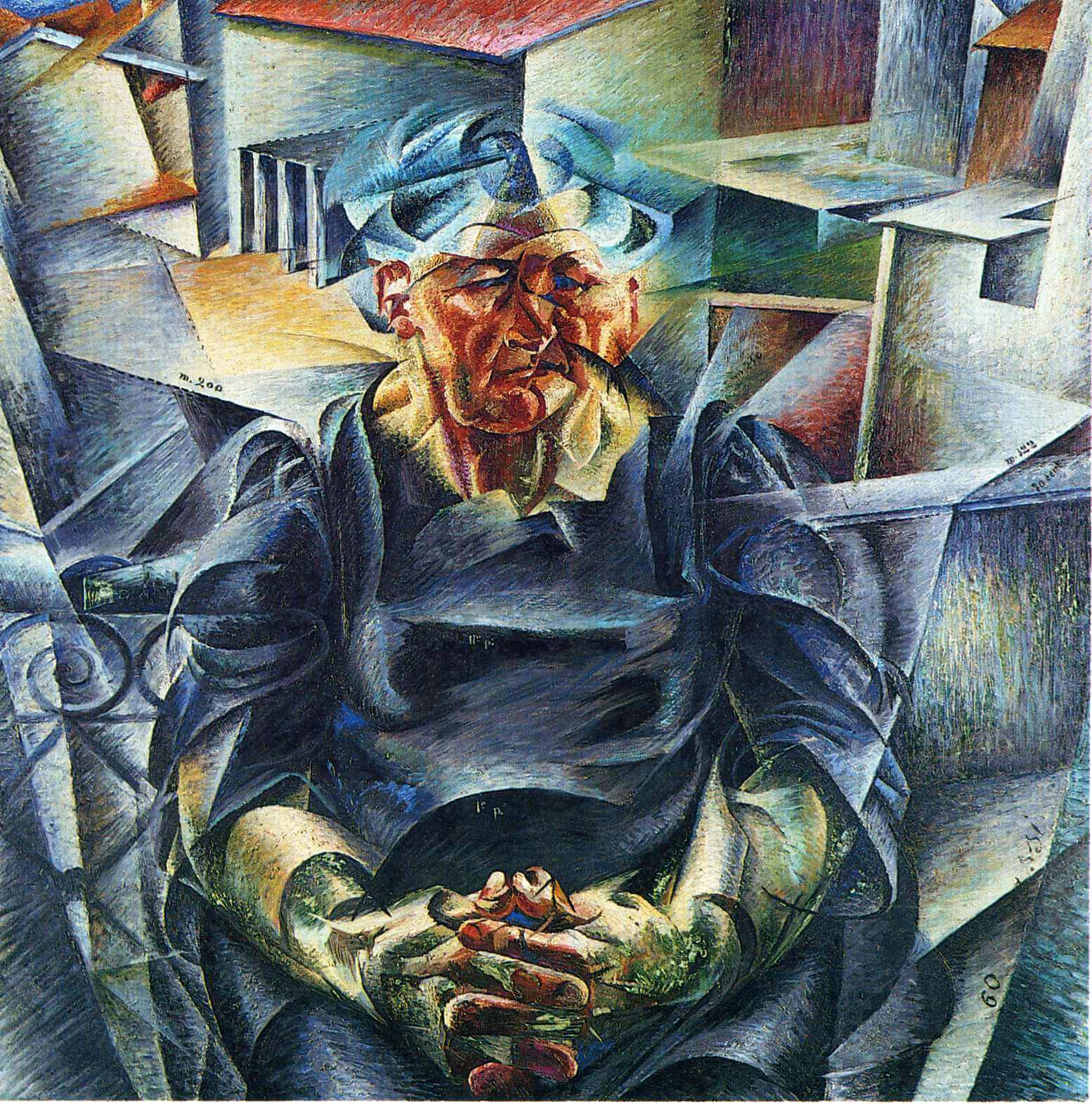 "Umberto Boccioni, ""Volumen horizontall"", 1912."