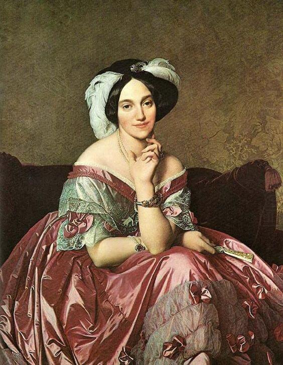 Retrato de la baronesa alemana Mathilde de Rothschild.