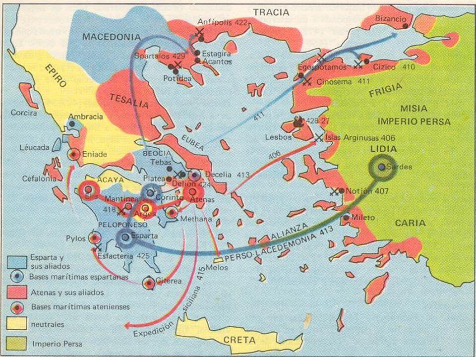 Batallas de la Guerra del Peloponeso