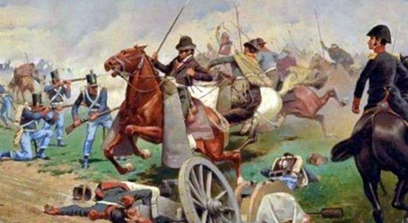 """""""La Batalla de Tucumán"""", pintura de Francisco Fortuny"""