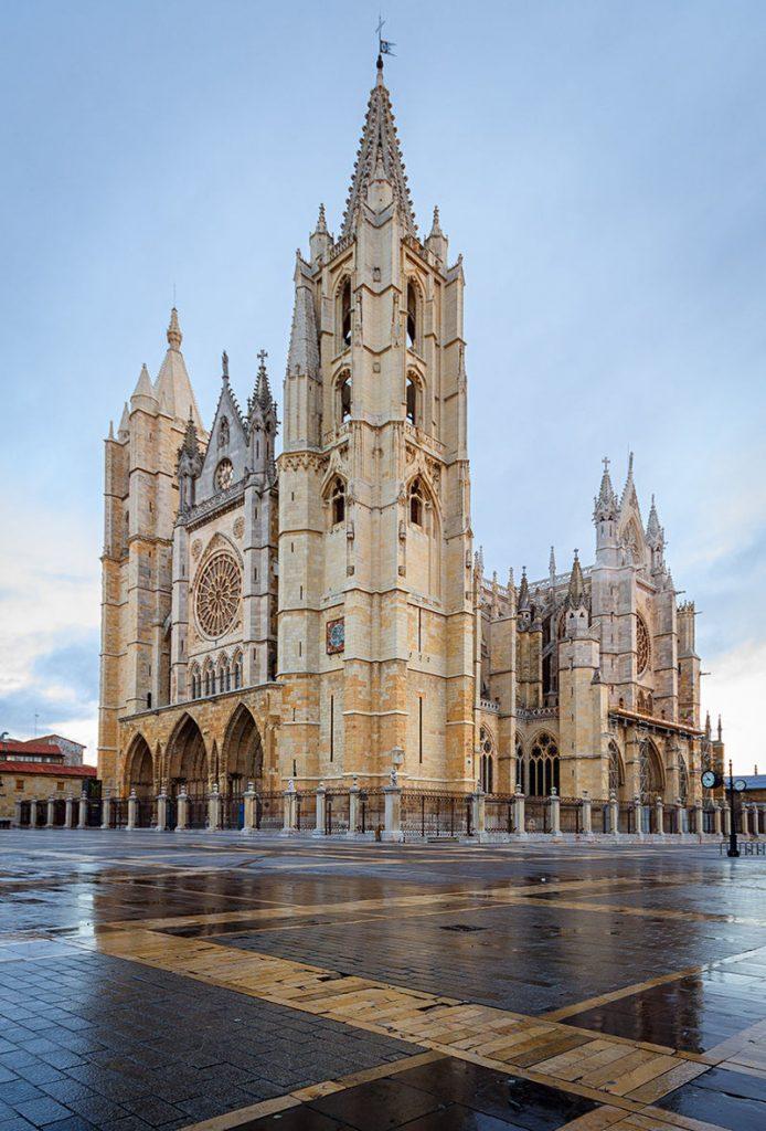 Catedral Gótica del León, España.