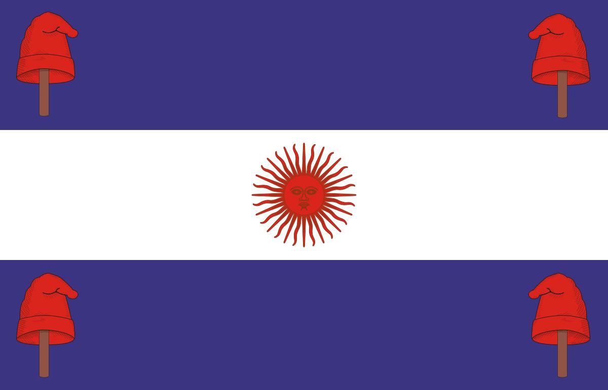 Bandera de la Confederación Argentina.