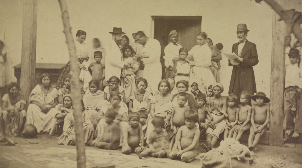 Familias paraguayas desamparadas durante la Guerra, 1867
