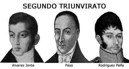 Miembros ejecutivos del Segundo Triunvirato.