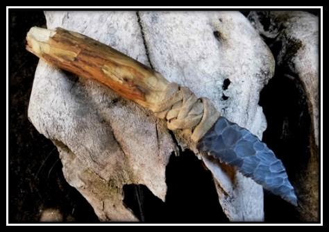Cuchillo de piedra.